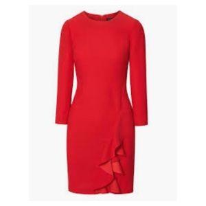 Banana Republic Red Ruffle Shift Dress ‼️NWT‼️